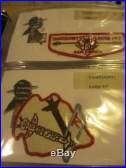 Oa Lodge 147 Tamegonit Patch Collection Reduced $$$ Lot #500 64 Pc Unit