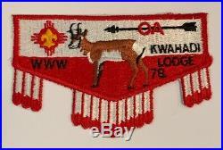 Order of the Arrow Kwahadi Lodge 78 S6b Rare Mint Patch