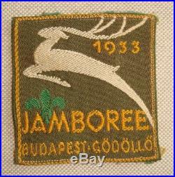 Original 1933 World Boy Scout Jamboree patch TOP