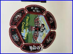 Pacific Harbors Council Nisqually OA 155 2017 Scout Jamboree Totem 7-Patch/2-pc