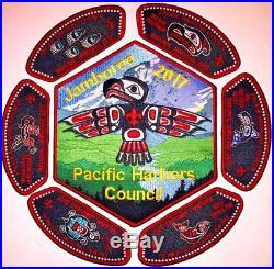 Pacific Harbors Council Nisqually OA 155 2017 Scout Jamboree Totem 7-Patch Set