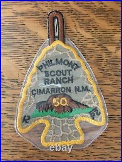 Philmont 50 Years BSA Scout Patch Arrowhead Cimarron New Mexico