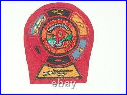 Philmont P patch, 6 segments & mountain Man segment on cloth