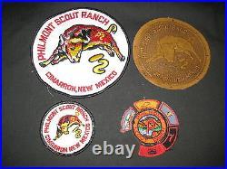 Philmont Scout Ranch 1950s P Patch with Segments & 1970s Patch Lot c5