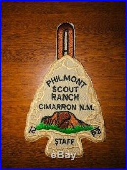 Philmont Scout Ranch Arrowhead Staff Patch Boy Scouts Vintage Plastic Back BSA