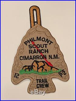 Philmont Scout Ranch Cimarron, NM Trail Crew Rare Mint Patch