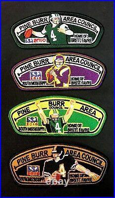 Pine Burr Area Council Oa 404 2010 Jamboree Centennial NFL Brett Favre 4-patch