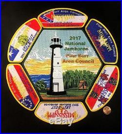 Pine Burr Area Council Oa 404 2017 Jamboree Southern Flag 7-patch Set 200 Made