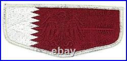 Qatar Flag Black Eagle Lodge 482 Flap Transatlantic Council Patch OA BSA