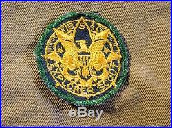 RARE 1930's BOY SCOUT EAGLE MEDAL & MERIT BADGE SASH, SENIOR SCOUTING PATCH, etc