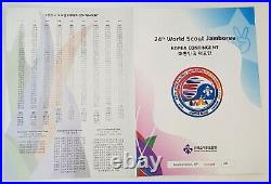 RARE 24th World Scout Jamboree 2019. Korea Contingent / Official Patch Book