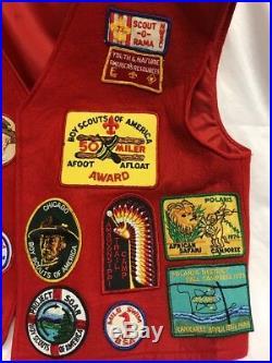 RARE BSA VINTAGE 1970's BOY SCOUTS OF AMERICA VEST PATCHES Illinois Chicago