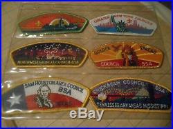 Rare 22 BSA SHOULDER PATCH LOT Boy Scout Council GA, WI, MI, NY, CA, TX, OH, CO, UT, VA++