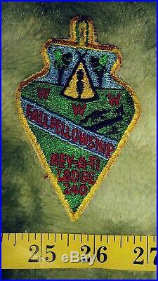 Rare Boy Scouts Ney-A-Ti Lodge 240 Order Arrow Arrowhead Patch 1960s