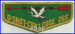 Rare O-Shot-Caw Lodge 265 X-1 issue South Florida Council OA BSA Patch Flap
