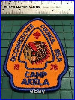 Rare Occoneechee Council Bsa Camp Akela Patch Boy Scout 1978
