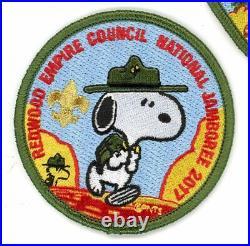 Redwood Empire Council JSP set- 3 patches incl Order of the Arrow- 2017 Jamboree