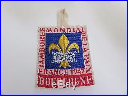 Scout cover patch badge world jamboree 1947 BOURGOGNE OFFICIAL PATCH