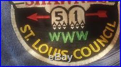 Shawnee Lodge 51 St louis Council, J1 boy scout jacket patch, OA, Boy Scout