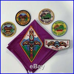 Skyuka Lodge 270 Lot S1 X5 Camp Patches 1959, 1960, 1961, 1962
