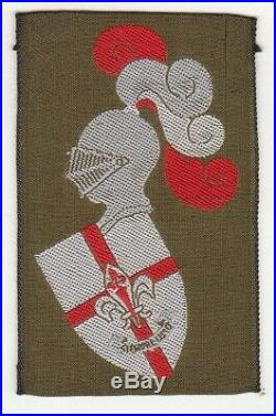 Spain ASDE Knight Scout highest troop rank patch / early 1970s badge NO FAKE