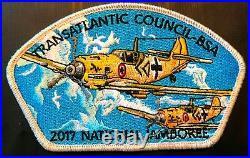 TRANSATLANTIC OA 482 BLACK EAGLE 2017 JAMBOREE WWII WW2 PLANES 7-Patch SMY STAFF