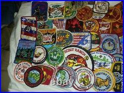 TT-007 Huge Lot BSA Boy Scouts Cloth Patches 1970's-80's Sequoyah Council 86