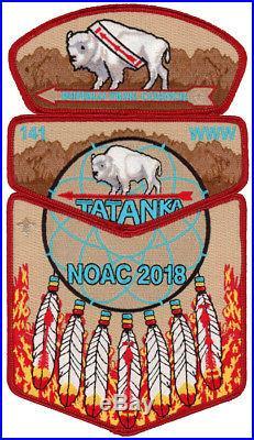 Tatanka Lodge 141 NOAC 2018 OA Boy Scout Flap Patch Set Buffalo Trail Council