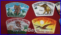 Utah National Parks Council 2001 Jamboree 16-patch Jsp Dinosaur Set