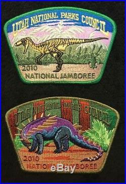 Utah National Parks Oa 508 363 2010 Bsa 100th Jamboree 21-patch Jsp Dinosaur Set