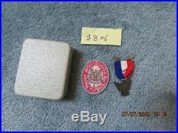 VINTAGE BSA Award Boy Scout STERLING Robbins 4 Eagle Medal, Case & Patch MINT