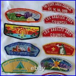VTG BSA patch BOY SCOUTS OF AMERICA shoulders flaps etc LOT 60's 70's 90's 2000s