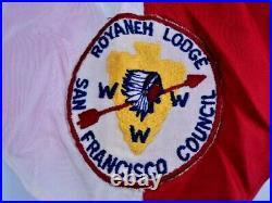 VTG Boy Scout ROYANEH LODGE Patch Neckerchief San Francisco Order of the Arrow