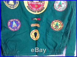 VTG Boy Scouts BSA 1950's 60's Shirt Patch Badge Button Neckerchief Scrap Book