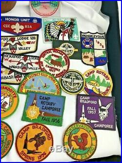 VTG LOT American Boy Scout 50's -70's Central Indiana Council Patches and Scarf