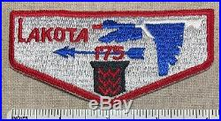 VTG OA LAKOTA LODGE 175 Order of the Arrow Flap PATCH Northwest Suburban Council