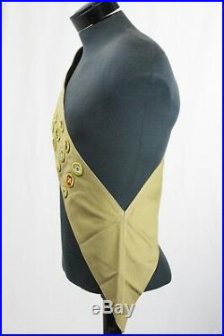 Vintage 1930's Boy Scouts of America Sash with 11 Merit Badges Troop Patches Green