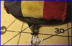 Vintage 1930s BSA Award Boy Scout STERLING Robbins 3 Eagle Medal Case & Patch