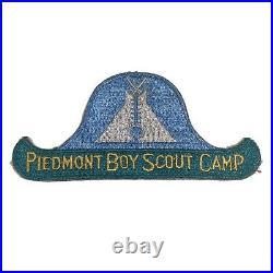 Vintage 1940S Piedmont Boy Scout Camp Patch NC Blue Gree White 5.75 Wide