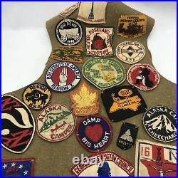 Vintage 1940s 1950s BSA Boy Scout Camp Badge Patch Vest Indianapolis Indiana