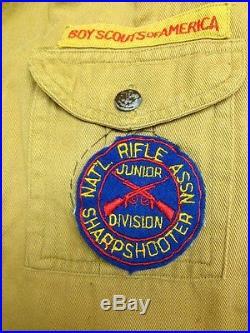 Vintage 1940s Eagle Scout Boy Scouts BSA Shirt Badges Patches