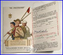 Vintage 1945 Type 2 BSA Eagle Scout Cut Cloth Patch 1939 Certificate