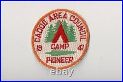 Vintage 1947 Camp Pioneer Caddo Area Council Twill Camp Patch CM1116