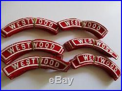 Vintage 1950's To 1960's Nos Boy Scout Patch Lot California B. S. A. Westwood Rare