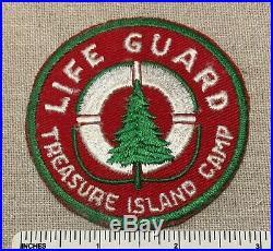 Vintage 1950s TREASURE ISLAND CAMP Boy Scout Life Guard PATCH BSA Aquatic Badge