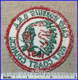Vintage 1957 CAMP ROBBINS Boy Scout PATCH Gulf Coast Council Florida FL Yustaga