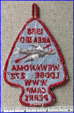 Vintage 1958 WEWANOMA LODGE 272 Area IX-D 9D Conclave PATCH Camp Perry TX Scout