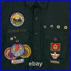 Vintage 50 Boy Scouts Button Shirt Patches Pinbacks & Medal Moss Point Miss 220