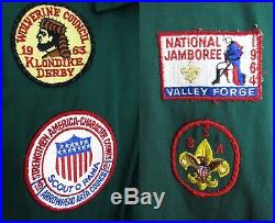Vintage 60s official Boy Scouts green jacket 1964 jamboree patch Kikthawenund