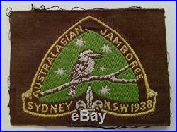 Vintage BOY SCOUTS CLOTH BADGE- ORIGINAL 2nd Jamboree SYDNEY 1938 plus others